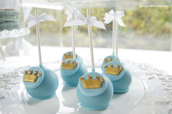 little prince baby shower ideas cake pops