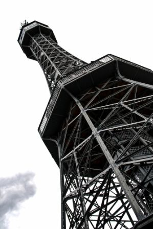 go2prague.com Petřín Tower close-up (Prague's Eiffel Tower)
