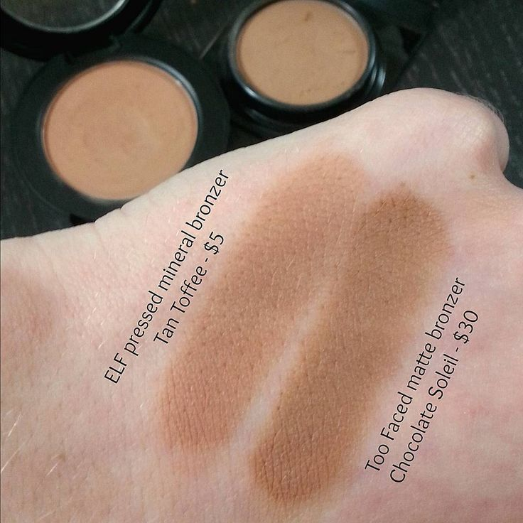 ELF cosmetics mineral bronzer in Tan Toffee - dupe for Too Faced Chocolate Soleil Bronzer