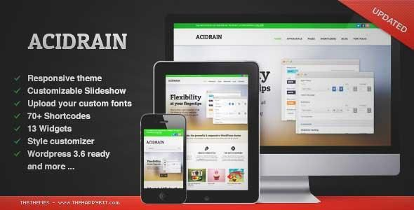 Download and review of AcidRain, one of the best Themeforest Corporative themes {Download & review at|Review and download at} {|-> }http://best-wordpress-theme.net/acidrain-download-review/
