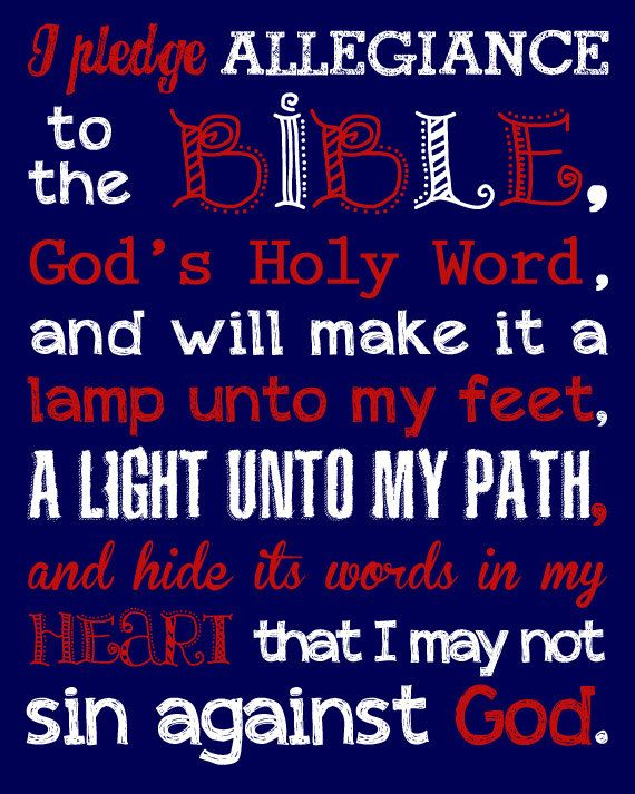 Pledge to the Bible. Pledge of Allegiance. by LittleLifeDesigns
