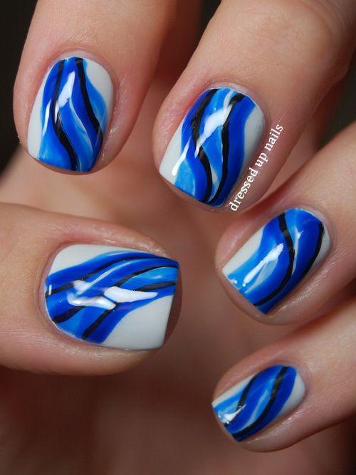 beautiful blue nail designs Blue Nail Designs Guide