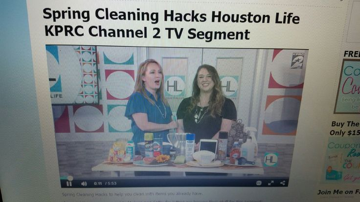 Houston Life TV Segment KPRC Channel 2 Houston  % Cleaning Hacks put to the Test.  Do they work?