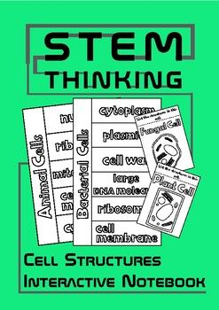 Animal, Plant, Fungal, Bacterial Cell Structures Interactive Biology Notebook Foldables for Middle School Biology and Science ClassesThis set contains:- 4 foldables for students to color, cut and stick and then write the function of the cell components for each cell- 4 foldables for students to list the structures in each of the 4 cell typesVocabulary included:- cell wall- cell membrane- nucleus- cytoplasm- mitochondria- ribosomes- chloroplast- plasmids- sap vacuole- large DNA moleculeYou…