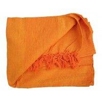 Tenture Kérala plaid couvre-lit Orange