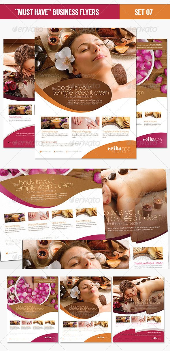 Must Have Business Flyers - Set 07 Beauty Spa