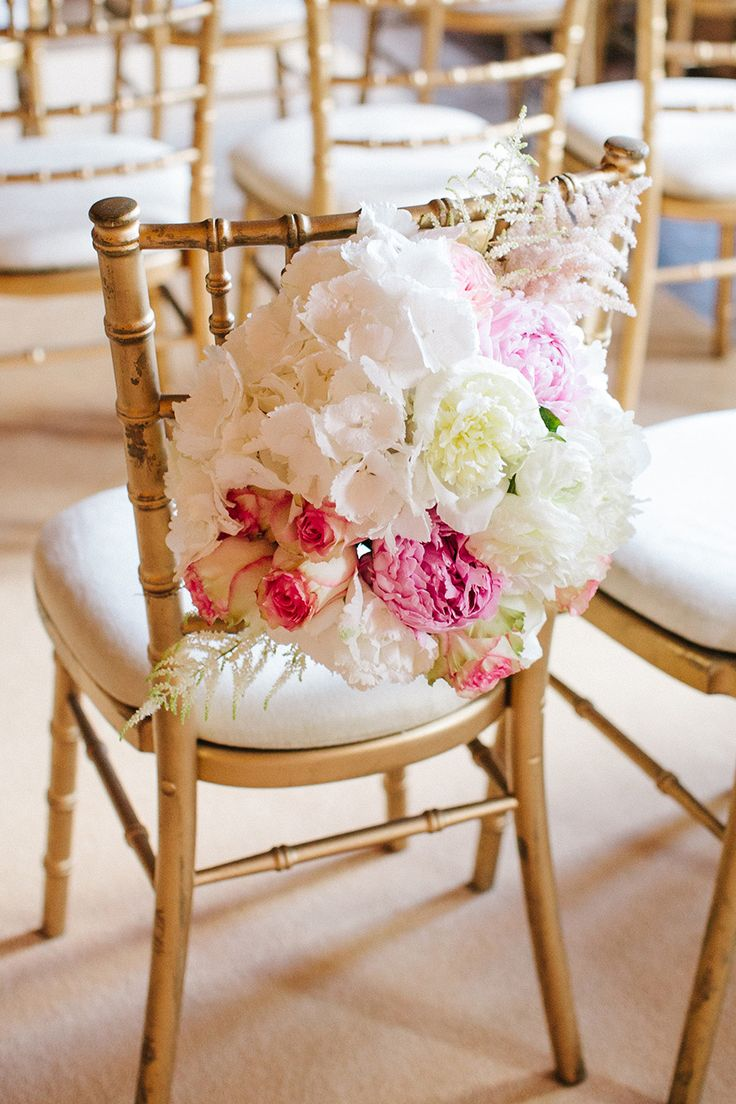 Decor for chairs wedding  best No Bare Chairs images on Pinterest  Decorated chairs