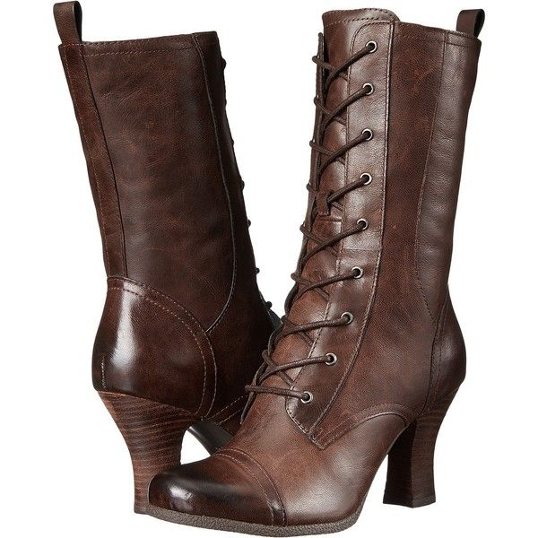 Miz Mooz Kathleen Women's Zip Boots (1,370 MXN) ❤ liked on Polyvore featuring shoes, boots, brown, genuine leather boots, leather boots, faux-leather boots, faux fur lined boots and leather platform boots