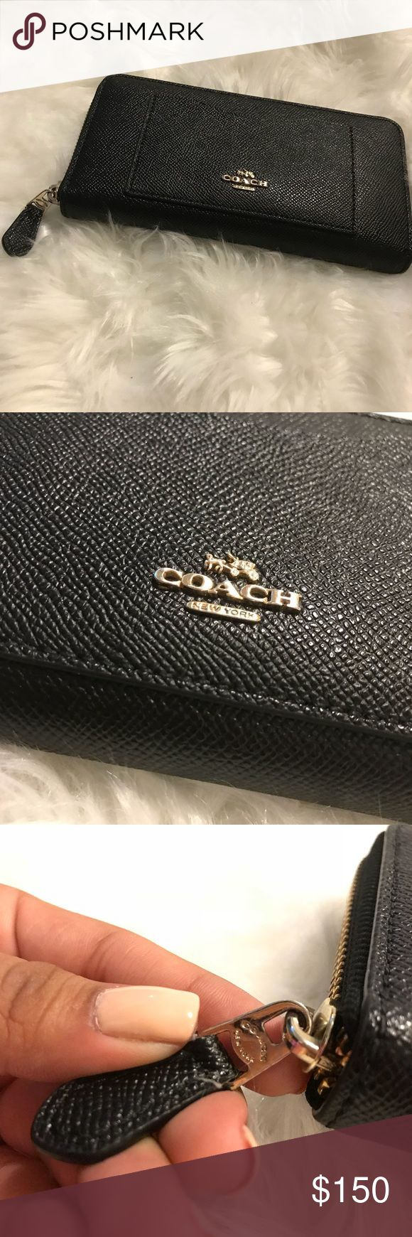 Coach Wallet Leather Coach Wallet. Gently Used. Coach Bags Wallets