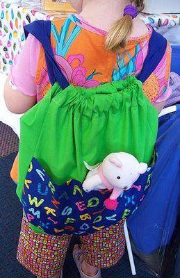 Cö Ser: bolsa - mochila....ideal para este verano, tutorial.