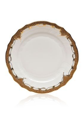 Herend Brown Fishscale Brown Dinner Plate