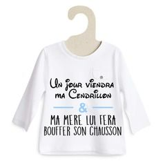 Un jour viendra ma cendrillon... t-shirt garçon 3 à 24 mois