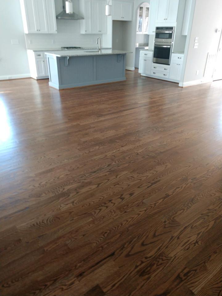 3 1 4 Inch Red Oak Hardwoods In Minwax Duraseal Provencial