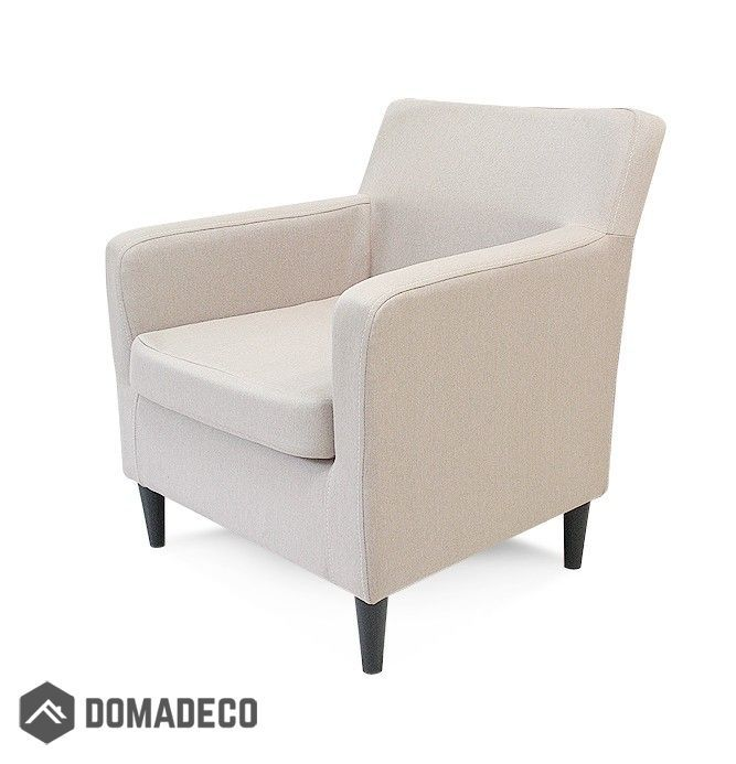 Product Features: An armchair is constructed using a wooden frame wooden plates, strips and foams. Chair can be placed on the legs black or natural light wood. Product Dimensions: Height. 78 cm Width 70 cm Depth: 76 cm Seat height: 41 cm