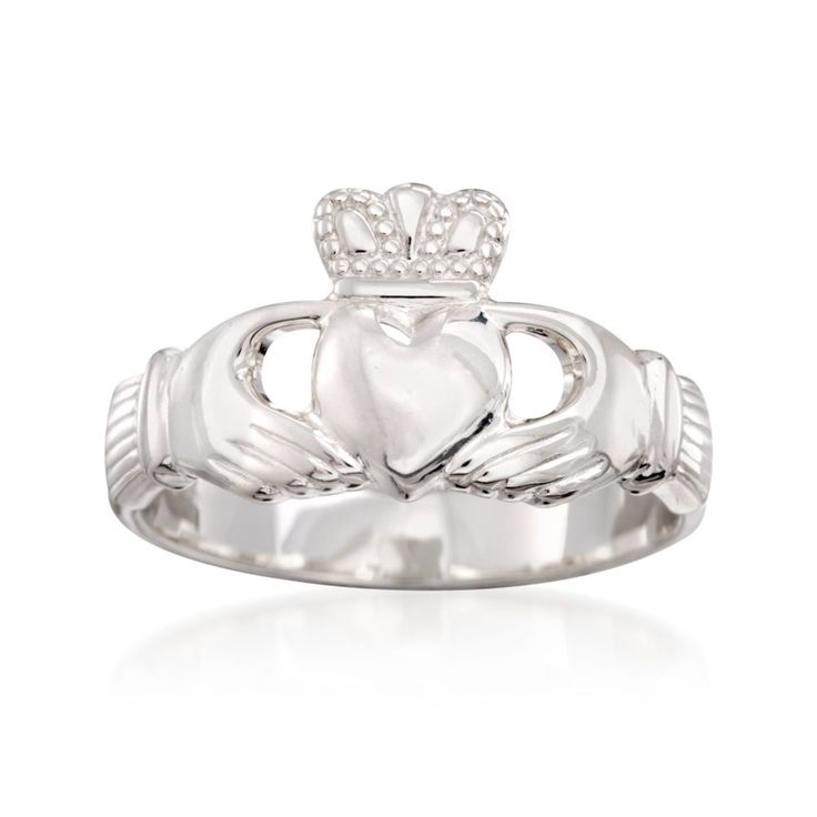 Ross-Simons - Sterling Silver Claddagh Ring - #844069