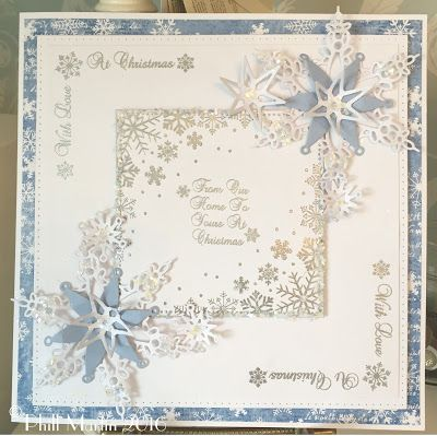 Phills' Crafty Place: Snowflakes, With Love At Christmas - Giveaway Card