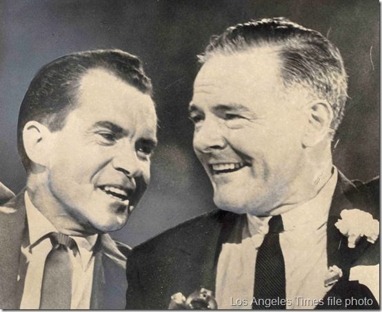 Richard Nixon and Henry Cabot Lodge, losing Republicans, 1960.