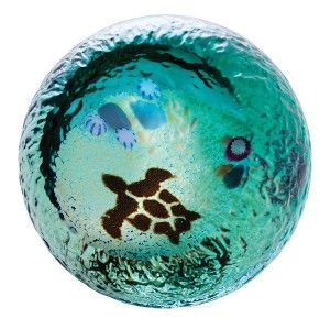 Turtle - Seabed - Unlimited Editions - Paperweights   Caithness Glass Paperweights