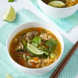 Spicy Asian chicken noodle soup - very simple and flavorful dish.