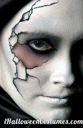 awesome Cracked porcelain doll makeup for Halloween - Halloween Costumes 2013