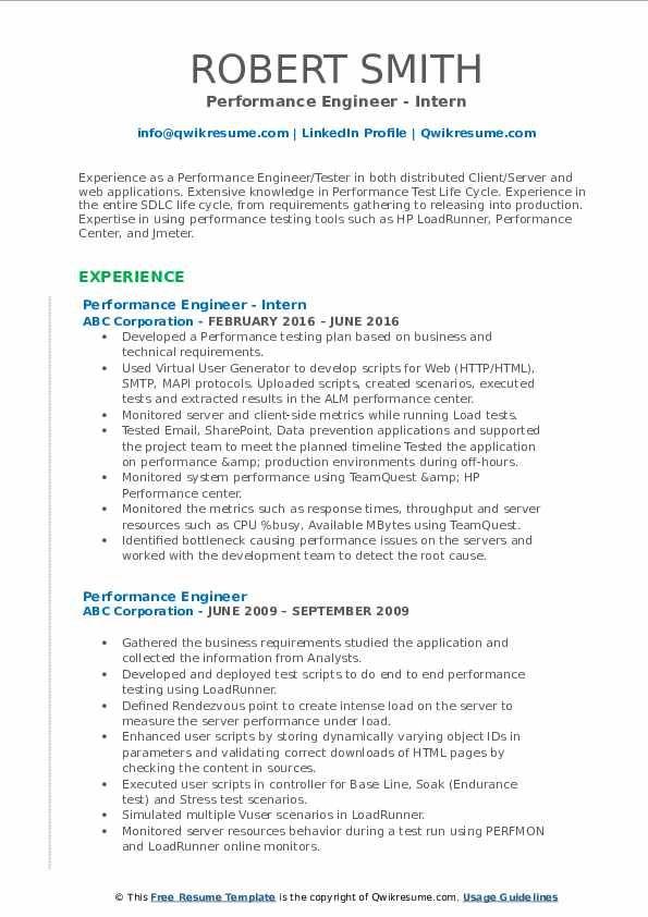 Performance Engineer Resume Samples Teacher Resume Examples Middle School Science Teacher Teacher Resume
