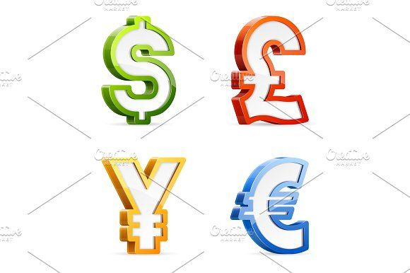 Currency symbols by vasabii on @creativemarket