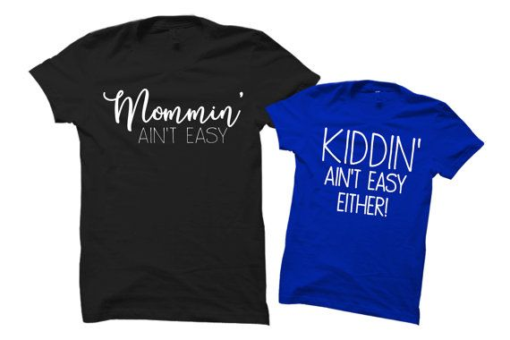 Mommy and Me SET mom and son shirts mom shirts by GracefulArrow