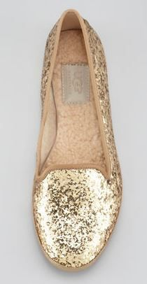 Glitter ugg flats... Uhh I can dig that!