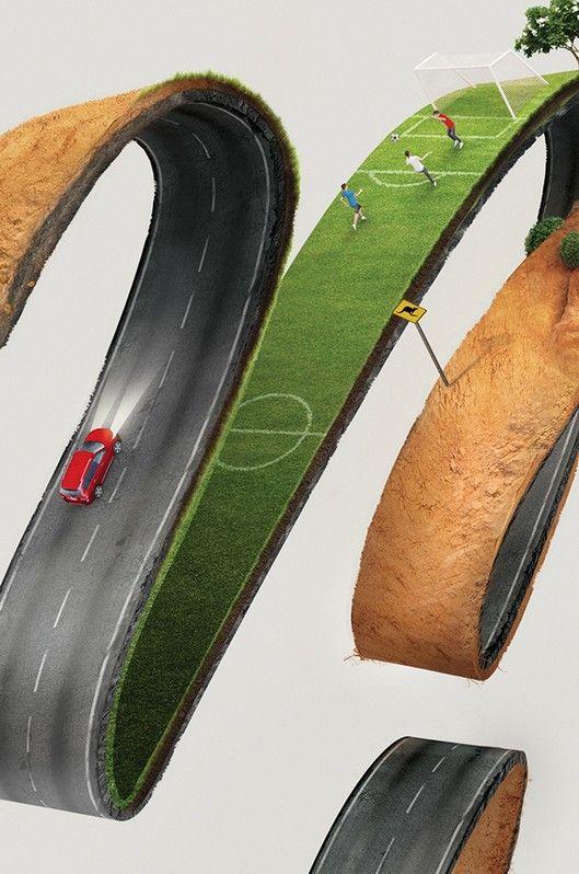 "Nissan #Creative #Print #Ad -""MORE DRIVE"""