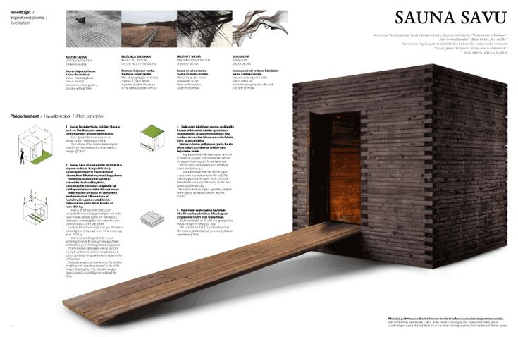 Sauna Savu is a Finnish wooden sauna that combines award-winning design with a traditional and atmospheric bathing experience. The charred e...