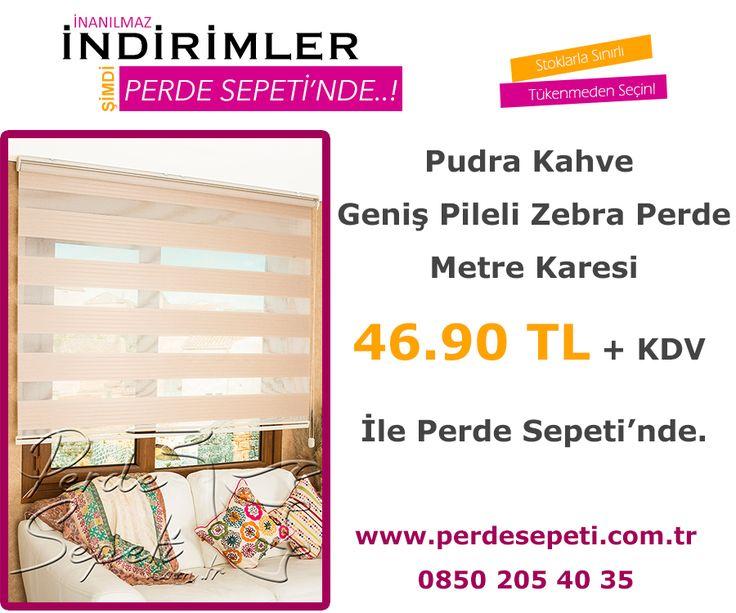 Pudra Kahve Geniş Pileli Zebra Perde Metre Karesi 46.90 TL + KDV İle Perde Sepeti' nde! Sipariş Vermek İçin Linki Tıklayın -> http://bit.ly/2aIcity