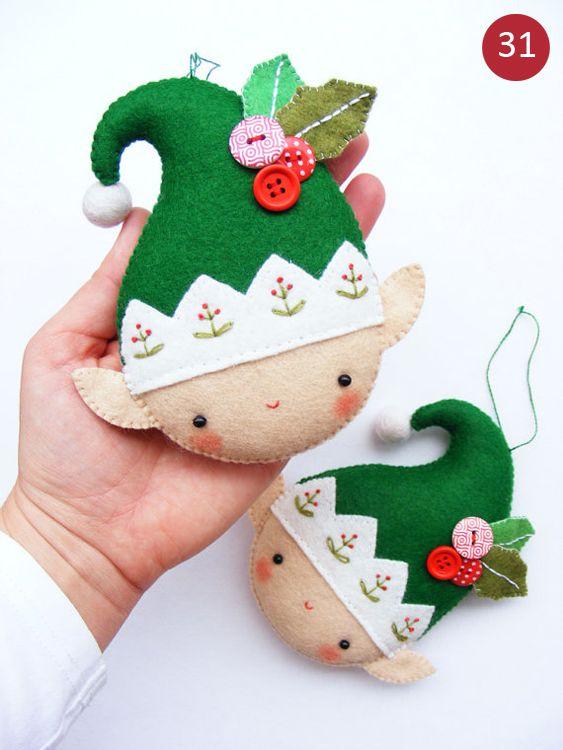 Decoração natalina com feltro