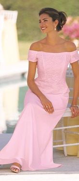 Modest pink occasion dress.  Vavavavoom indeed.  Chadwicks c. 1996