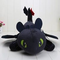 Wish | 55cm How To Train Your Dragon 2?Night Fury Plush Toy Toothless Dragon Stuffed Animal Dolls