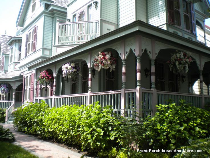Victorian porches are exquisitely painted. Beautiful front porch columns! More information on Front Porch Ideas and More