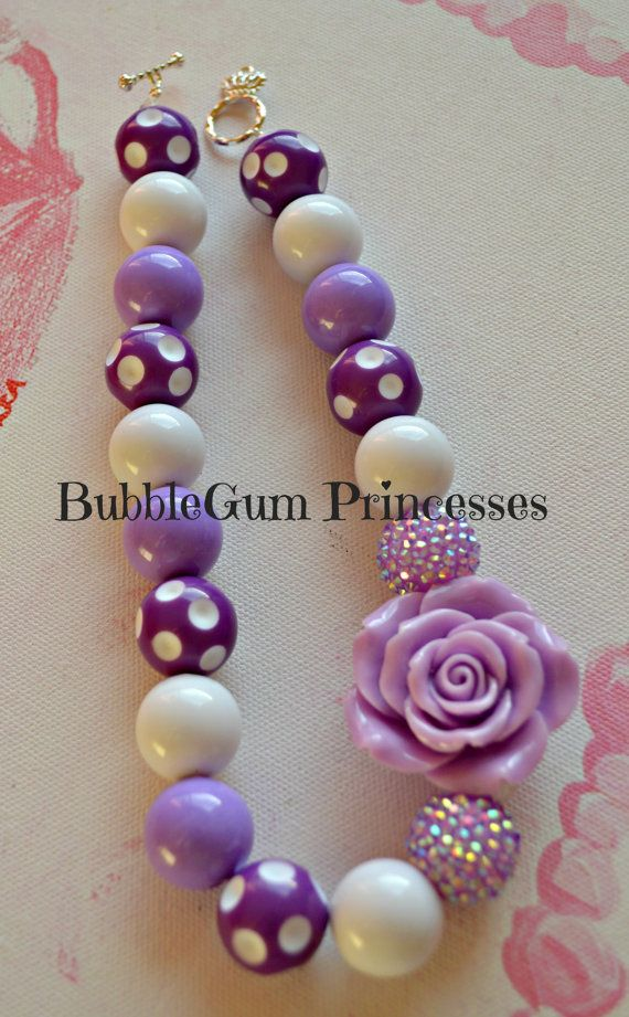 Chunky BubbleGum bead necklace POLKA DOTS by BubbleGumPrincesses, $18.00
