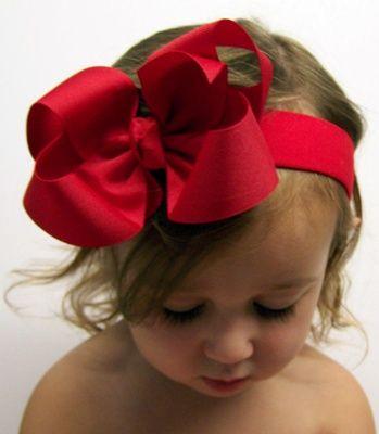 Red Hair  Bow Headband