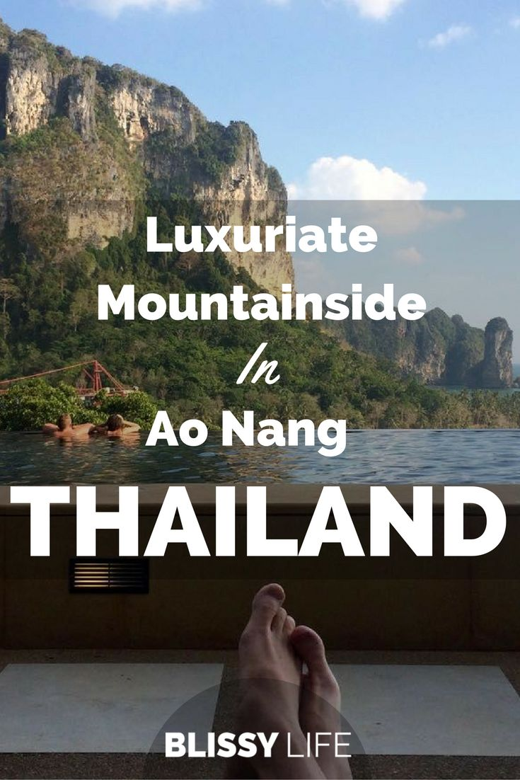 Get Inspired & Luxuriate From The Side Of A Mountain In Ao Nang, Thailand via @blissy_life