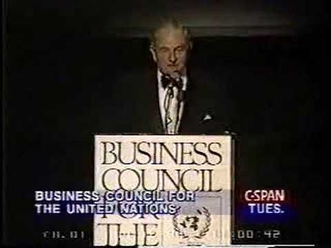 David Rockefeller speaks about population control. - YouTube