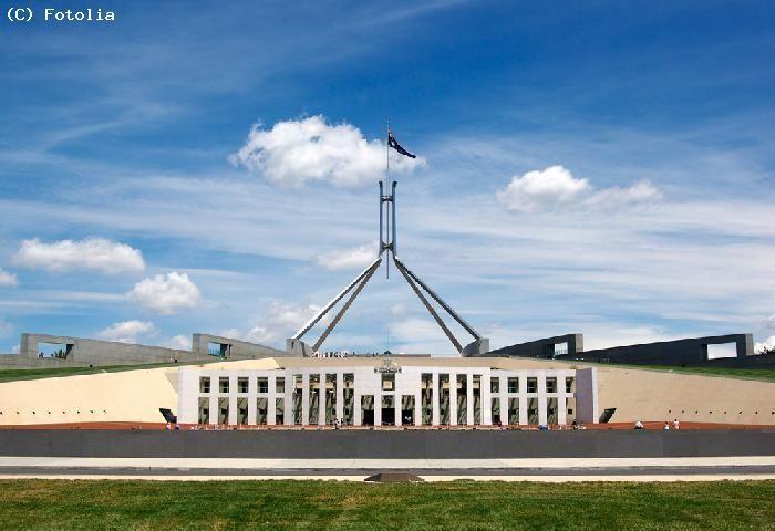 Parlement australien situé à Canberra, capitale du pays