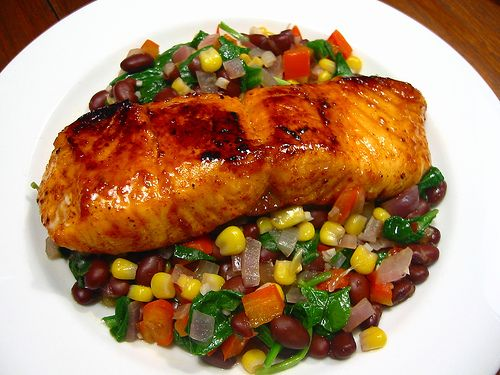 Amazing Blue Mountain Coffee  Cocoa-Crusted Salmon picture