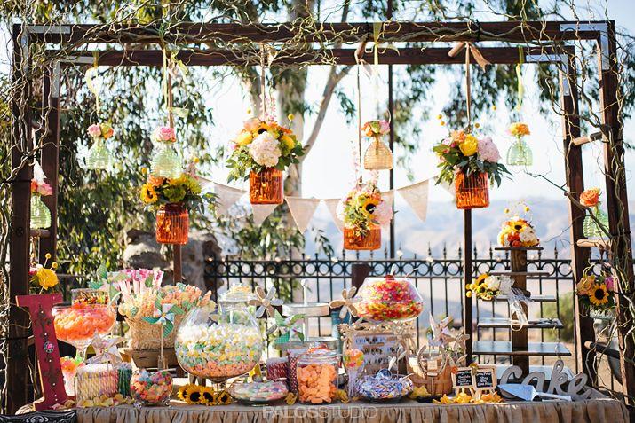 Star Ranch Wedding #candybar #dessertbar