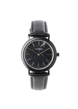 LOUISA resulted in loving attention to detail and good taste. The smooth leather strap attaches perfectly to the black stainless steel case, which is bordered with Ebony wood and stainless steel. A special feature of this model is the marble dial, which makes every watch produces unique. Due to the high wearing comfort and the selected materials, this watch is a real eye-catcher.