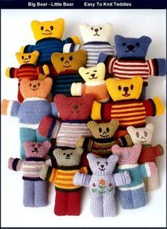 Retro Knitting Teddy Bear Knitting Patterns To Make Knitted Teddy Bears