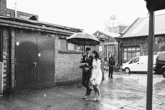 Helena Stuart S Wedding At 92 Burton Rd Kelham Island Neepsend Sheffield United Kingdom Boho Bride Raining Englis Boho Bride English Wedding Wedding