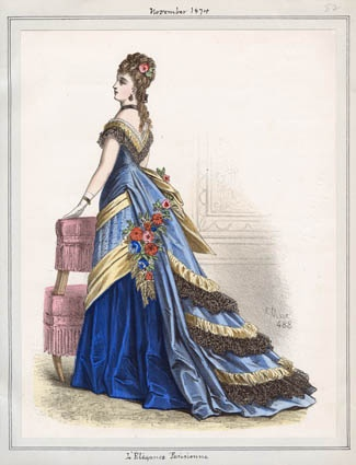 Title: L'Elegance Parisienne  Item Date: November, 1874  Item ID: v. 49, plate 82  Collection: Casey Fashion Plates  Location: Central Library, Rare Books