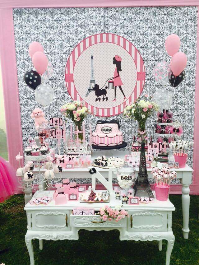Incredible Paris birthday party! See more party ideas at CatchMyParty.com!