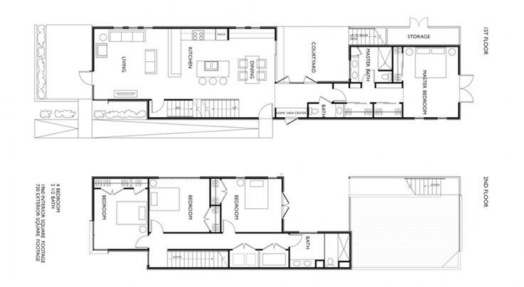 Floor house plan shotgun http wwwoneworldarchitecturecom