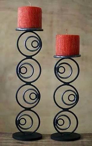 candelabro  hierro estilo industrial