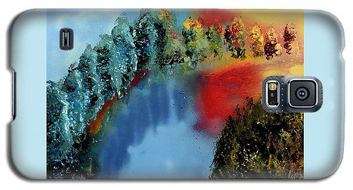 River Of Colors Galaxy S5 Case Printed with Fine Art spray painting image River Of Colors by Nandor Molnar (When you visit the Shop, change the orientation, background color and image size as you wish)